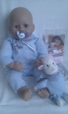 Adorable Big 'Baby Annabell Brother' Zapf Creation Interactive Baby Doll